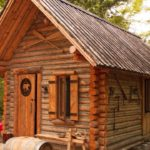 Log cabin by one man in the forest - youtube tutorials