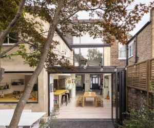 London House Extension With Skylights And Huge Windows