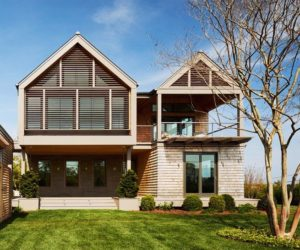 New single family residence with wooden shingles