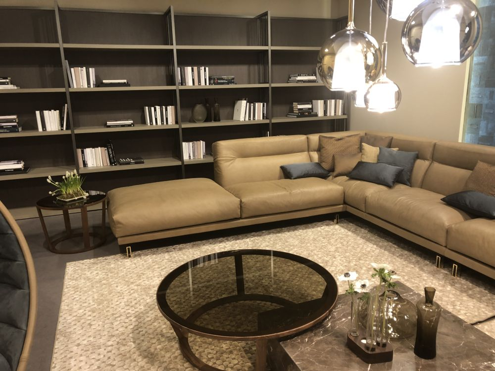L-shaped sectionals are nice and cozy but do influence the overall layout of the room quite a lot