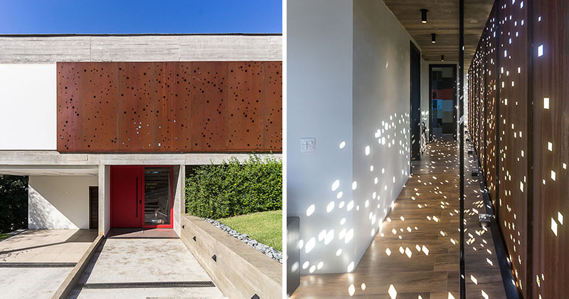 Have a perforated facade that lets light through