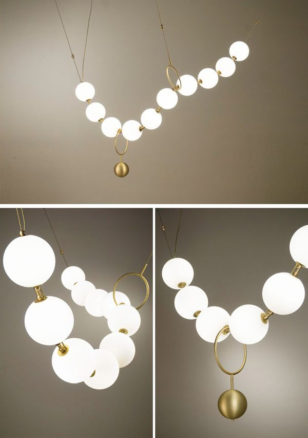 Sculptural lighting that looks like jewelry