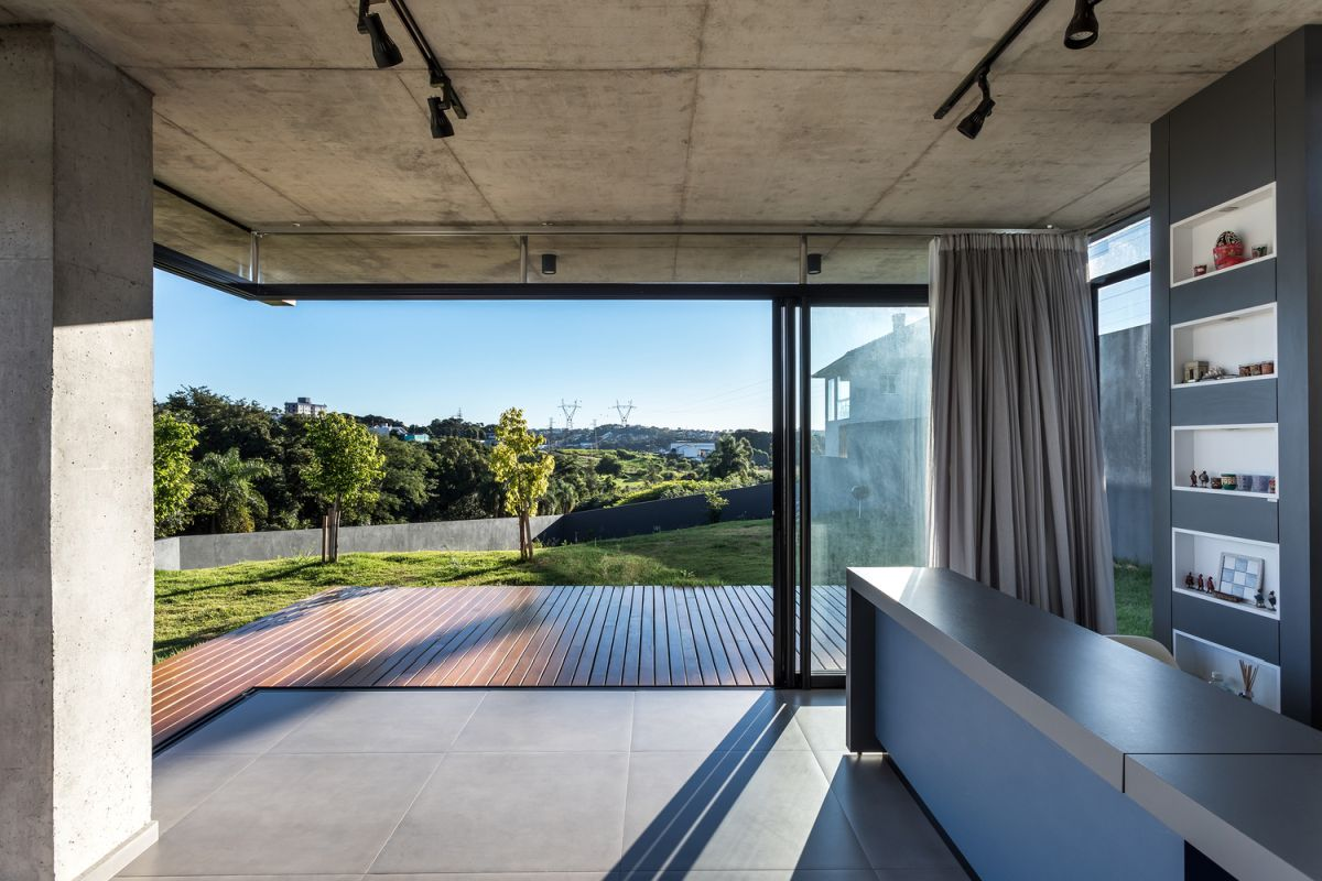 The uneven topography provides some really beautiful views which can be enjoyed from both floors