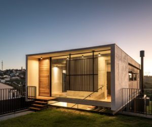 Small Modern House Takes Advantage Of Uneven Topography And A Special Backyard