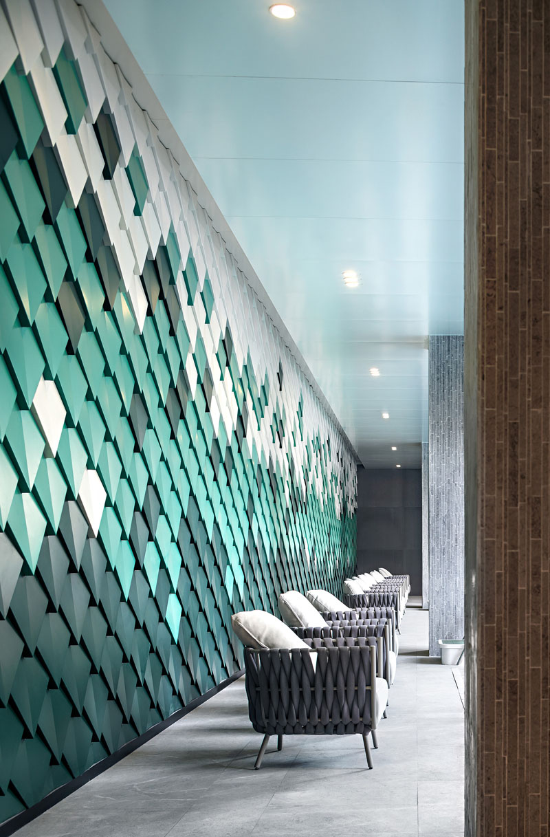 Make a 3D accent wall with a cool pattern