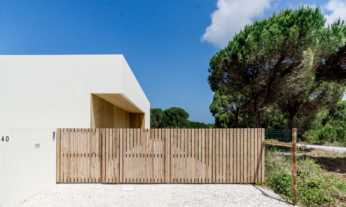 Wood is a major component in the design of the house, inside and out