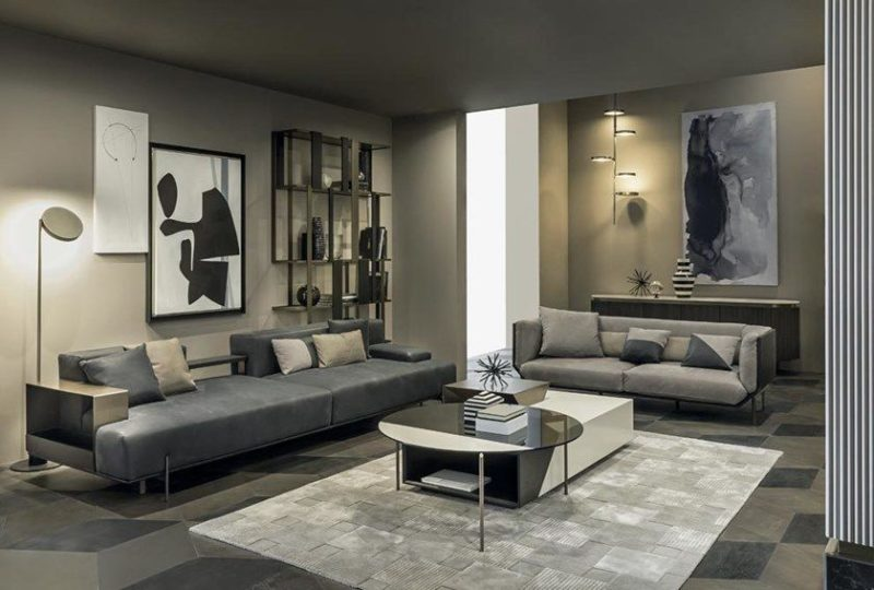 10 Exquisite Examples of Grey Leather Sectionals