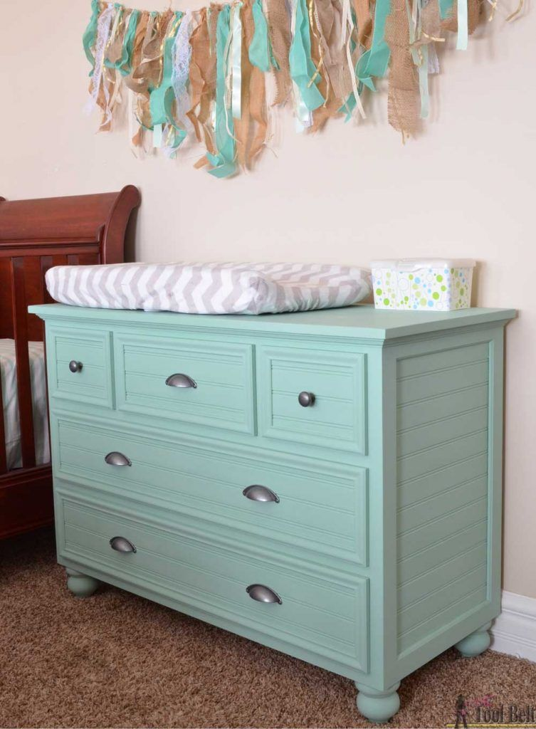 Dresser and changing table combo for the nursery room
