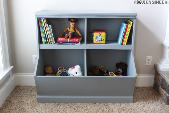A Bookcase with Toy Storage