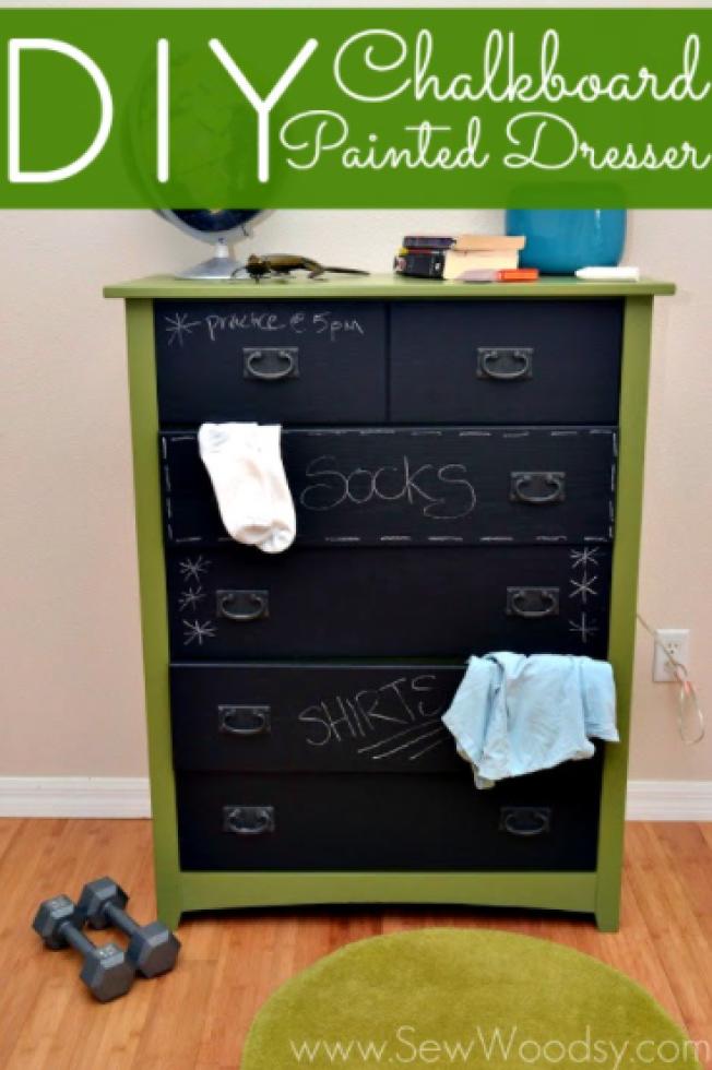 A Chalkboard Dresser