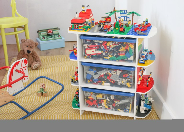 An Upcycled Toy Storage and Play Table