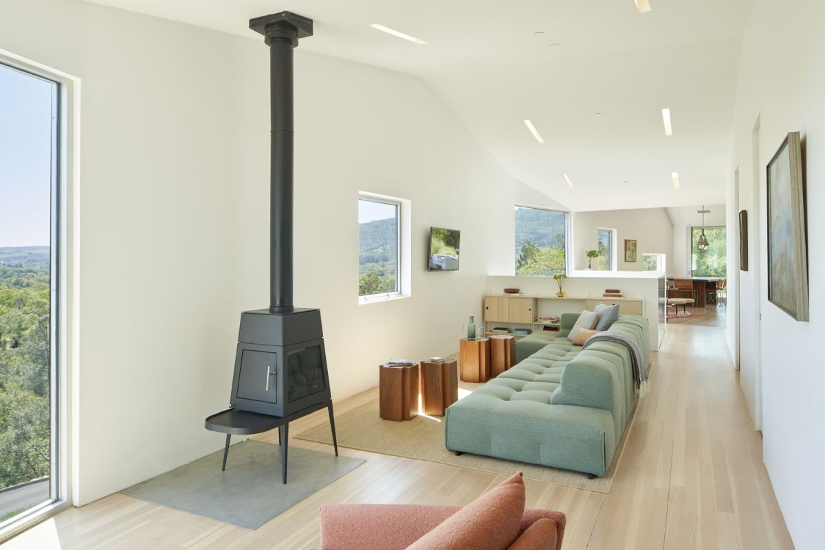 The colors featured throughout the interior design are muted and create a relaxing ambiance