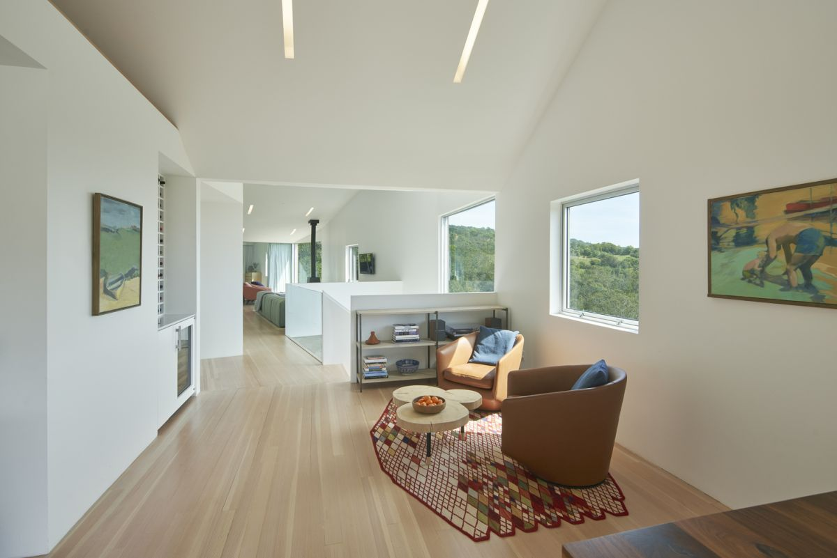 Both the interior and the exterior of the house were inspired by their beautiful surroundings