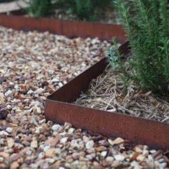 Corten steel lawn edge
