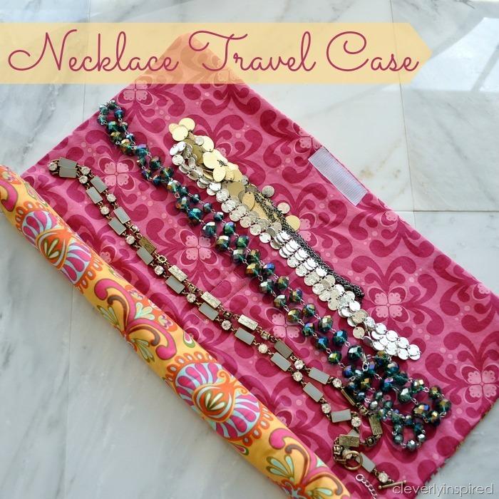 DIY Travel Necklace Holder
