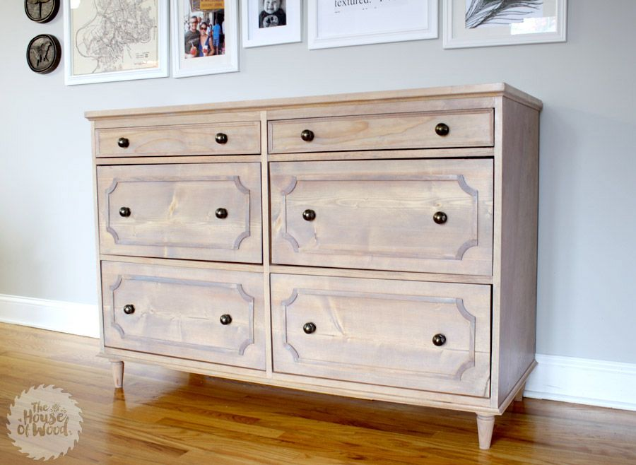 Little details that add depth and style to a simple dresser