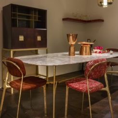 Ghidini 196 gold frame chairs