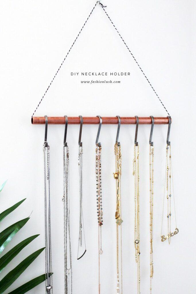 Minimalist Necklace Holder Jewelry Storage