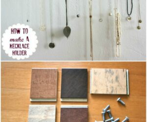 20 Great DIY Necklace Holder Ideas So They Never Get Tangled Again