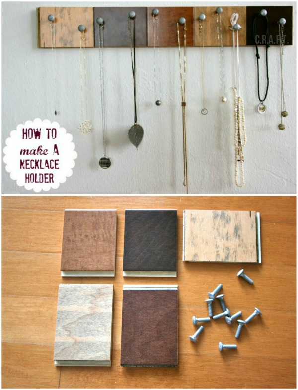 Mix and Match Tile Necklace Holder Display