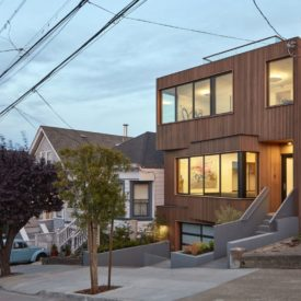 Modern San Francisco Facade Noe Valley House by IwamotoScott Architecture - street view