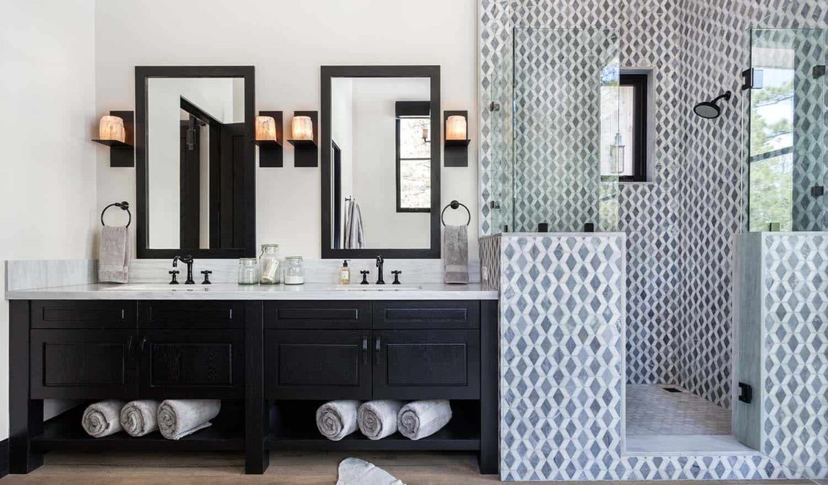 Although their designs are simpler and cleaner, the bathrooms still look inviting