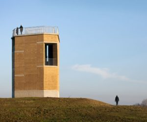 Observation deck Rammed Earth architecture