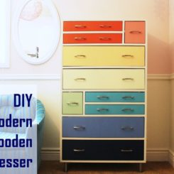 Retro-Rainbow-Wooden-Dresser