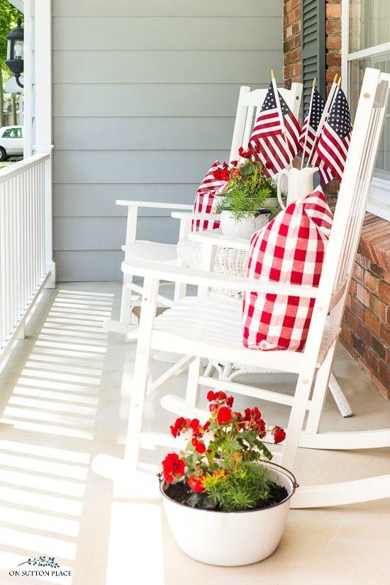 10 Last Minute 4th of July Porch Decor Ideas