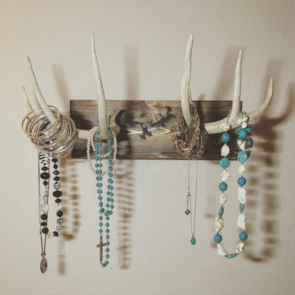 Rustic Antler Jewelry and Necklace Holder