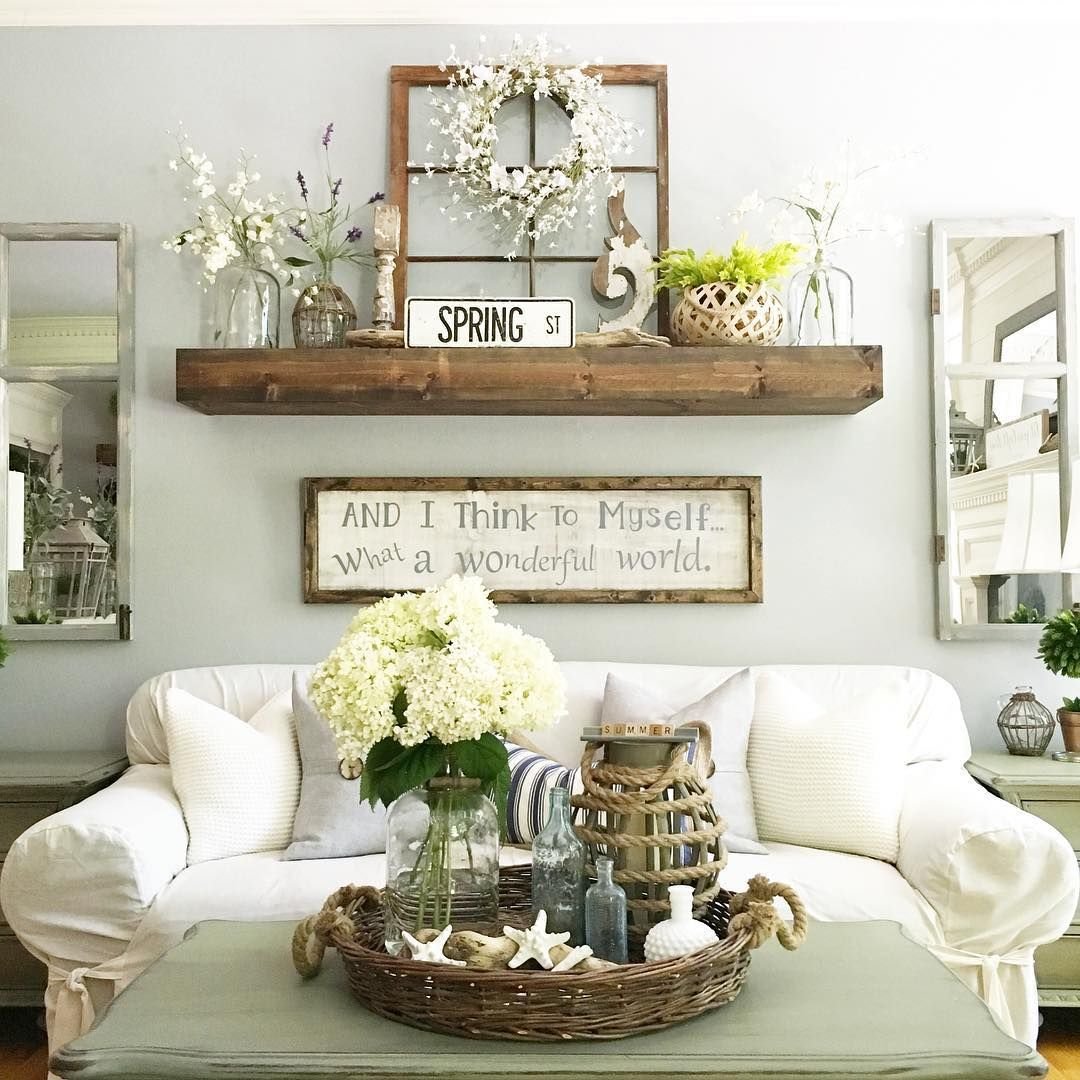 Decorating A Living Room Wall: 20 Rustic Wall Decor Projects For A Charming Home