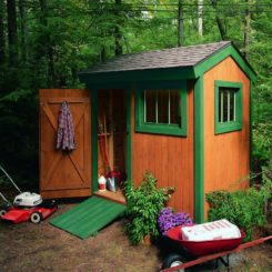 Small garden shed colorful