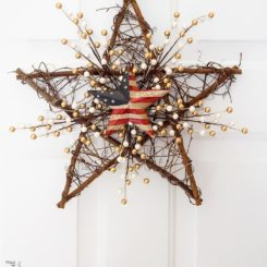 Star 4th of July DIY Grapevine Wreath
