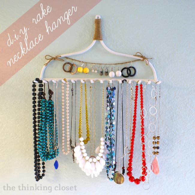 Sweet Rake Hanger Necklace Holder