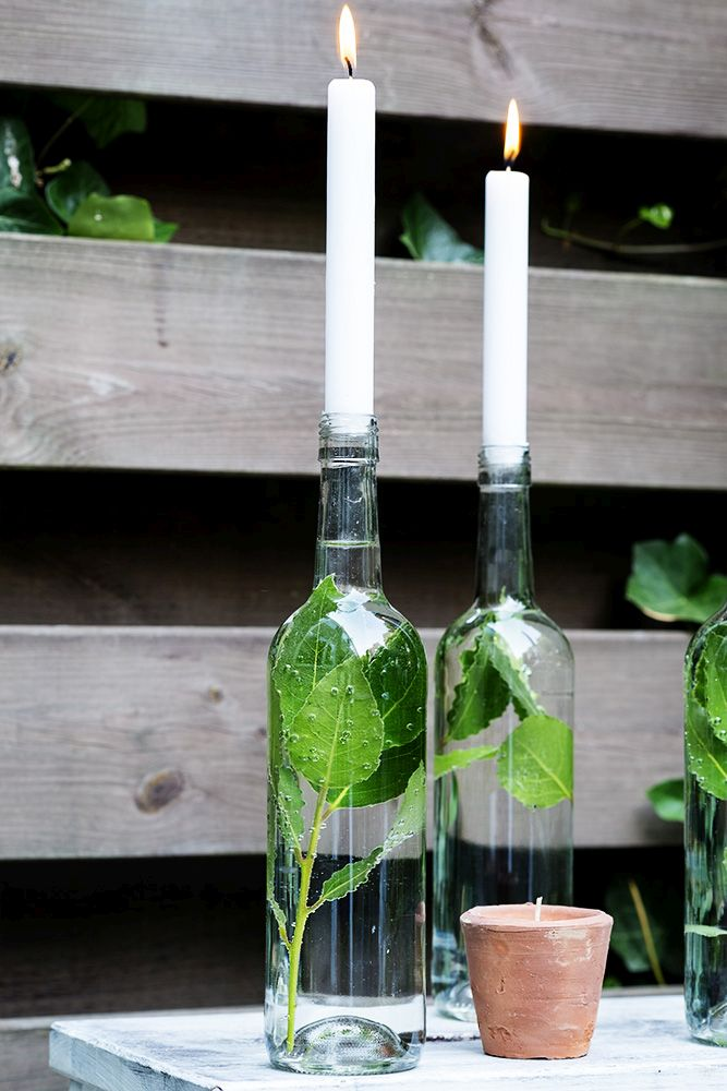 9 Wine Bottle Decor Ideas - Easy With A Touch Of Magic