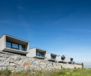 Seven Stylish Houses Form A Modern Development in Portugal
