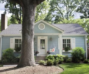 Bungalow toruquouise style house exterior