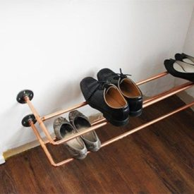 Copper pipes shoe rack