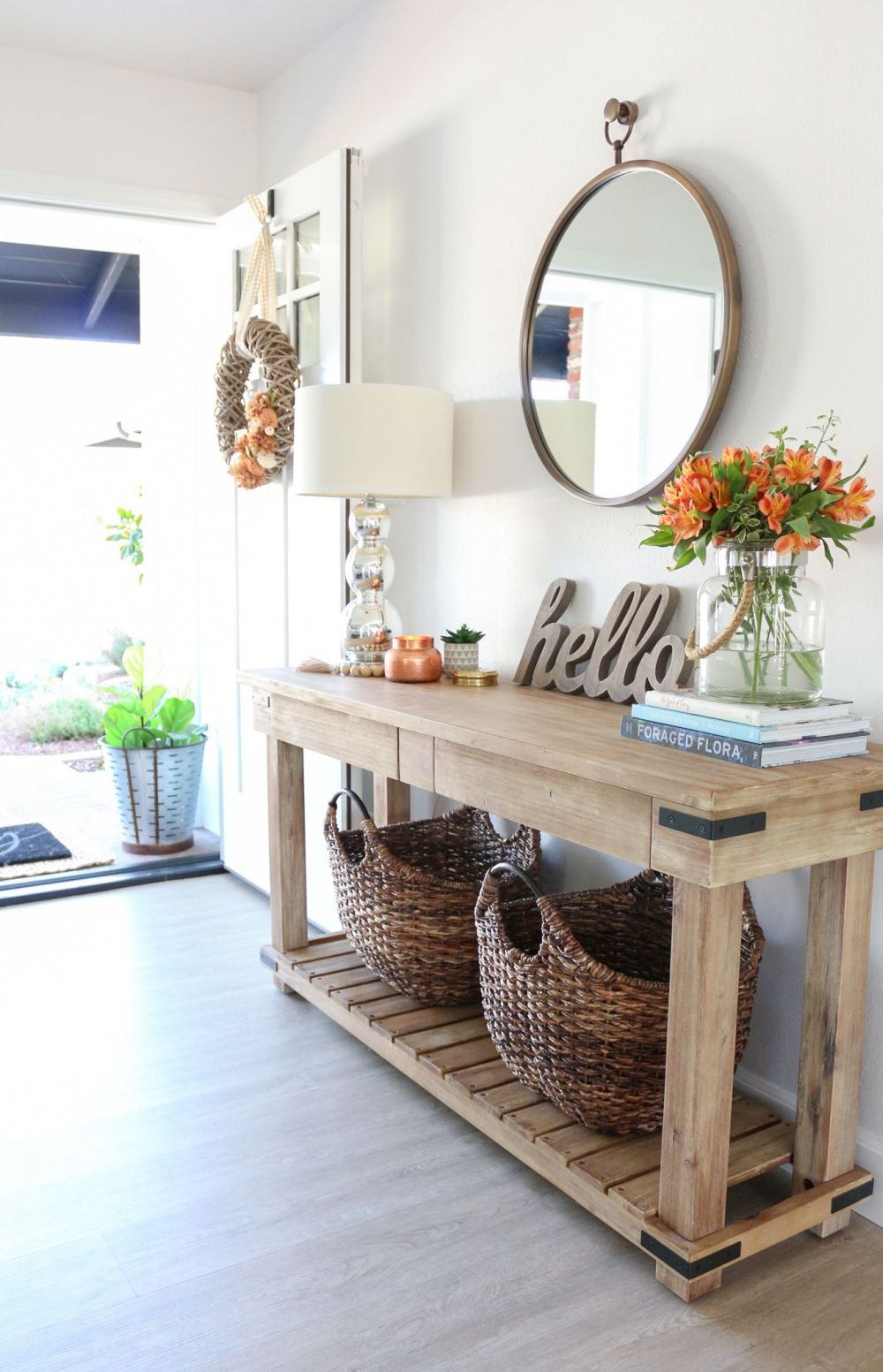 Entryway Table Designs And Ideas for Wholesome Homes