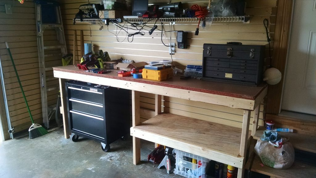 Additional tool storage for a clutter-free work surface