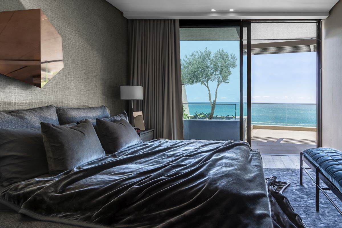 The ocean views are also a big part of the two bedrooms and their inviting interior designs