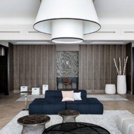 Stylish Parisian apartment large living room