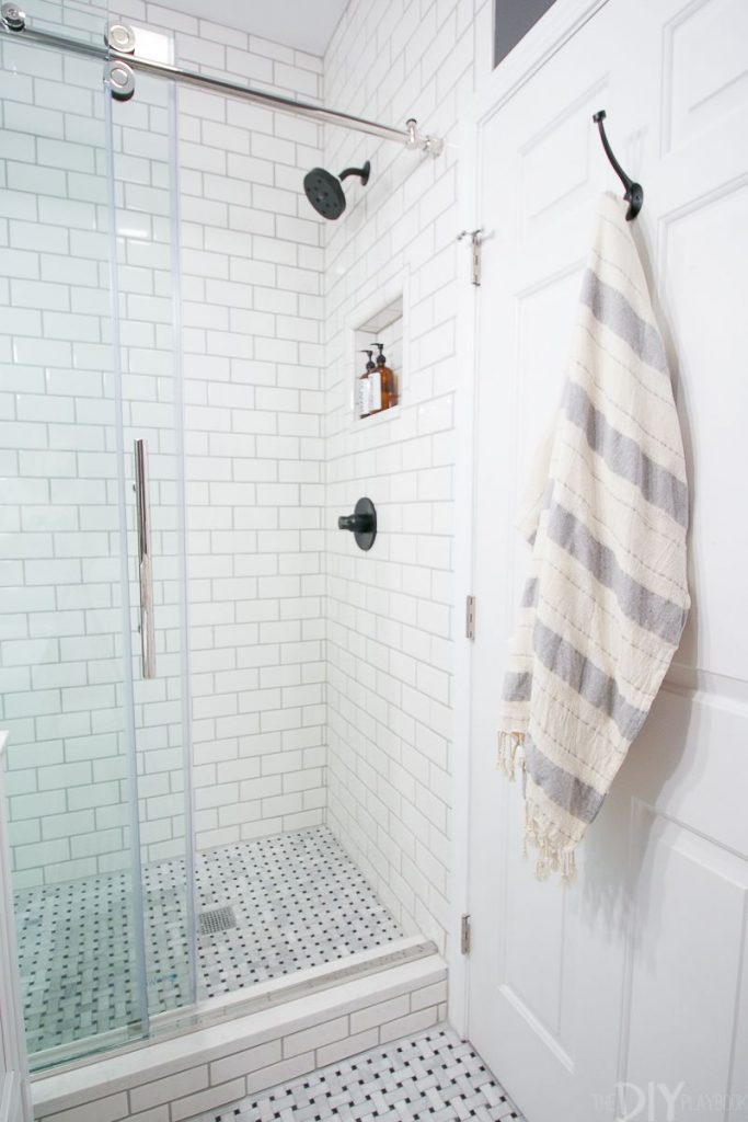 shower tile ideas Add Texture With White Subway Tiles
