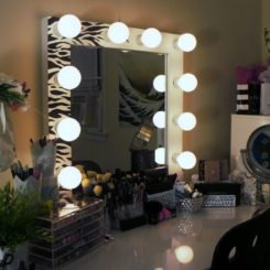 Creating a modern vanity mirror with lights