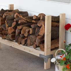 Firewood Rack Featuring DIY Done Right