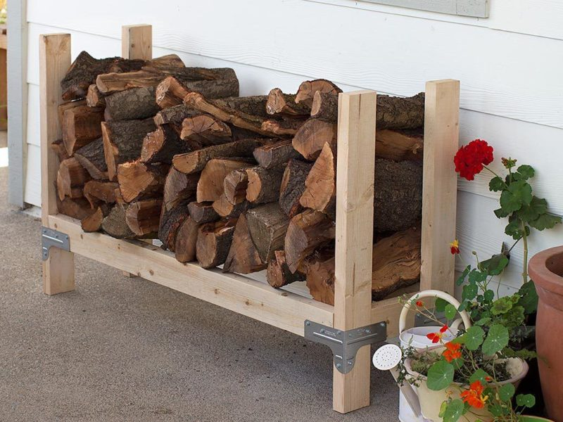 DIY Firewood Rack Concept With Ingenious Designs
