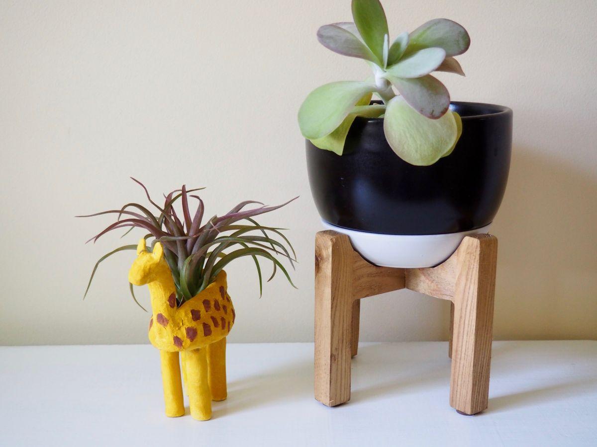 A super cute giraffe planter