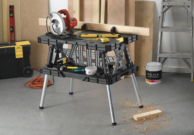 Keter Folding Table Work Bench for Miter Saw Stand