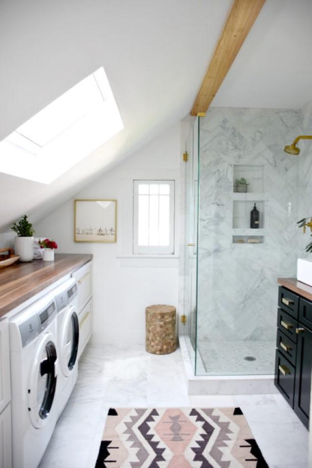 shower tile ideas Marble Monochrome Shower Wall Tiles