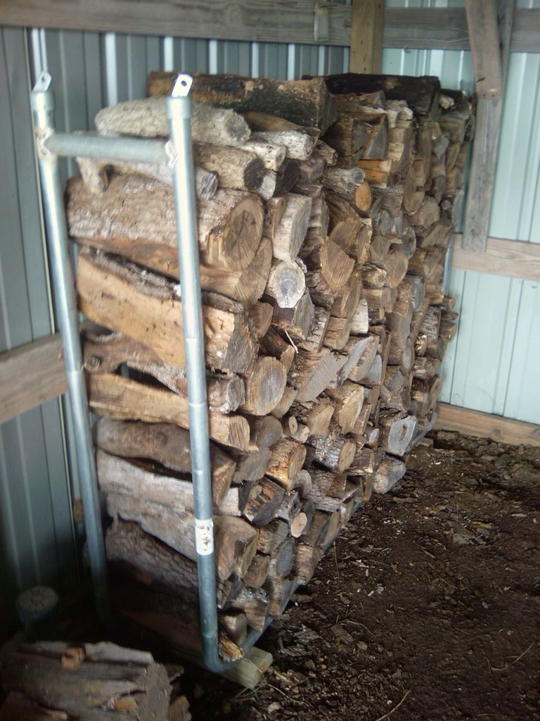 Steel pipes firewood